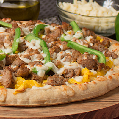 Image of Sausage, Egg and Cheese Pizza